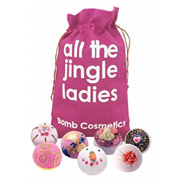 Set cadou All The Jingle Ladies Hessian Sack Bomb Cosmetics