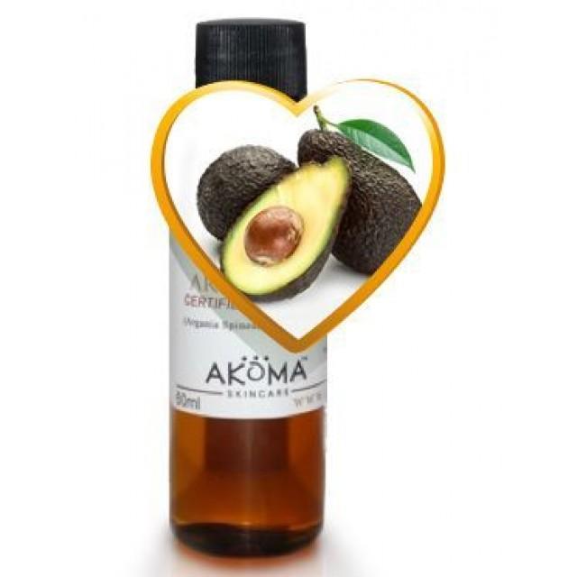 Ulei de avocado crud, certificat organic, 100 ml - Akoma Skincare