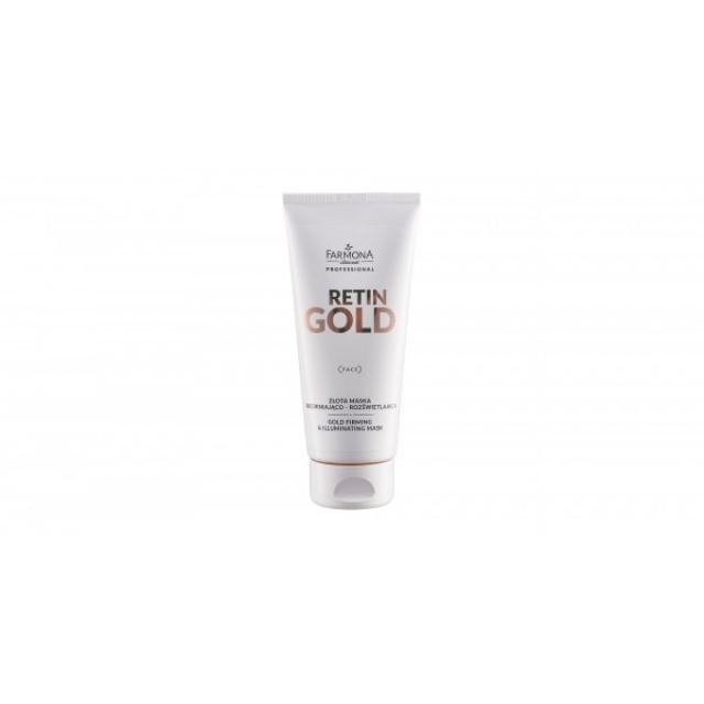 Mască pentru fata cu aur, cu efect de fermitate si iluminare Retin Gold Farmona Professional 200 ml