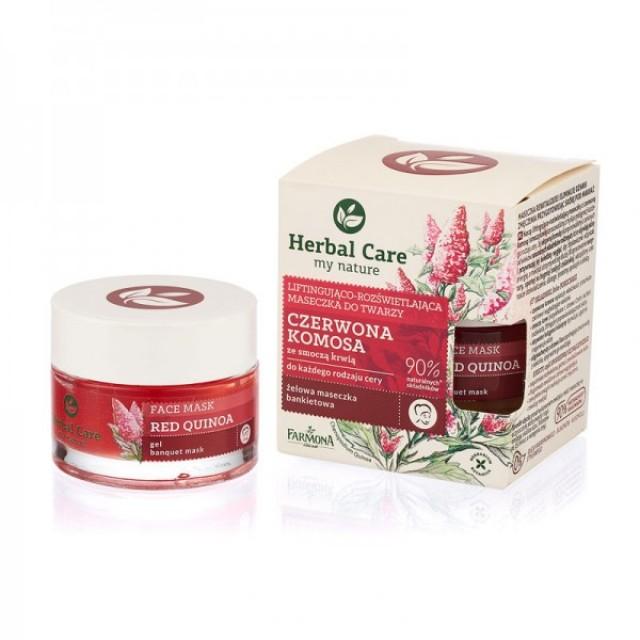 Mască lifting-iluminatoare cu quinoa rosie și extract de sangele dragonului Herbal Care 50 ml