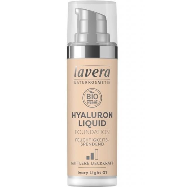 Fond de ten bio Hyaluron Liquid Ivory Light 01, 30ml - LAVERA