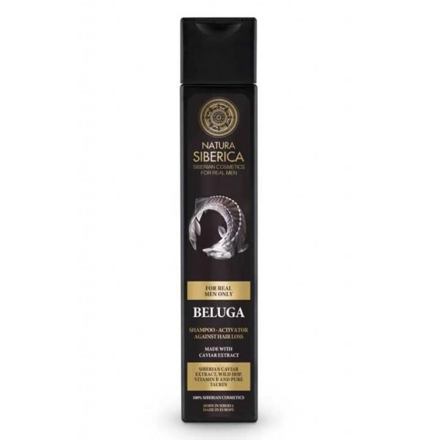 Sampon pentru barbati, impotriva caderii parului, cu caviar Beluga, 250 ml - Natura Siberica