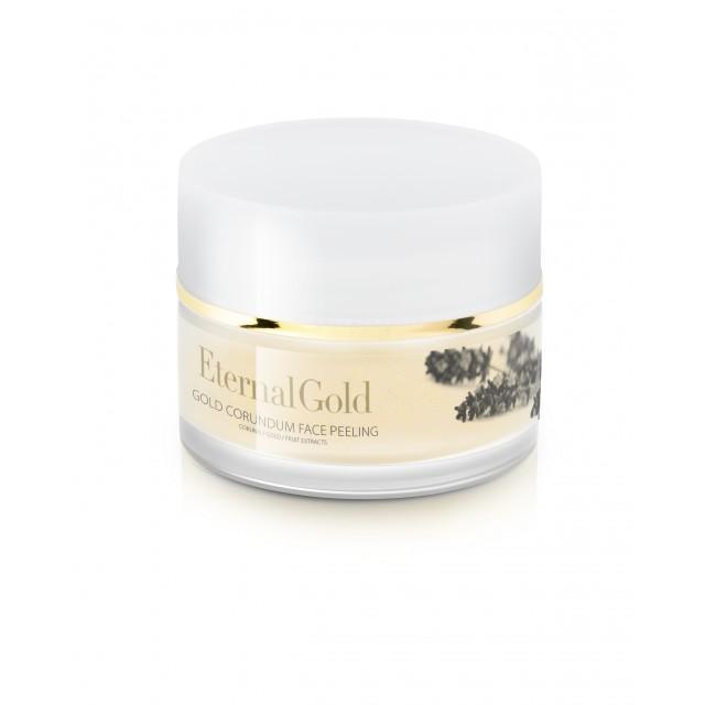 Exfoliant facial cu aur si corundum Eternal Gold  Organique 50ml