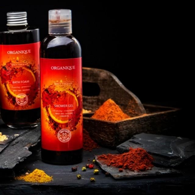 Gel de dus stimulant si picant cu scortisoara si ardei iute Spicy Organique 250 ml